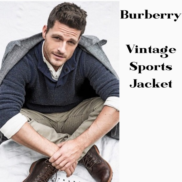 Burberry Other - BURBERRY HERRINGBONE 2 BUTTON BLAZER SIZE LARGE